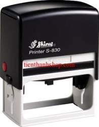 Dấu Shiny S-830 75 x 38mm 2 màu mực