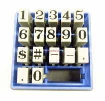 Bộ dấu số 17 số & ký tự XTENSIONS NUMBER - dùng trong công nghiệp