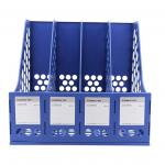File vát nhựa 4 ngăn B2114 - Xanh Dương
