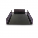 Kệ Mica 1 tầng - Mica dày 2.5mm màu khói - 21x30 cm - D01