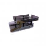 Kệ Mica 2 tầng xếp A4 - Mica dày 2.5mm màu khói - D02
