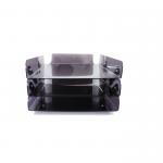 Kệ 3 tầng xếp A4 - Mica dày 2.5mm màu khói - D03 - 21x30cm