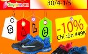 Chương Giảm Giá Nhân dịp lễ 30/4-1/5 cho dòng sản phẩm Nike