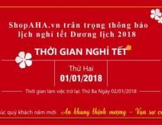 Thông Báo Nghỉ Tết Dương Lịch 2018