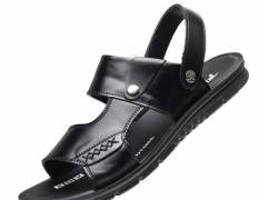 Dép Sandal Slider Grow Màu Đen Big Size