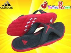 Dép Adidas Đế Cao Su Đen Đỏ DTC014 Giá Rẻ