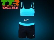 Đồ Tập Gym, Chạy bộ Nữ Đen xanh lơ GC004