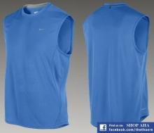 Áo Tập Gym, Thể Hình Nam Nike Xanh Dương AGT113