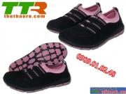 Giày Chạy Bộ Nữ Hama Đen hồng phấn HM01