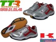 Giày Cầu Lông Nam Kawasaki Xám đỏ CLN070