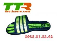Dép massage Adidas đen xanh chuối DMS003