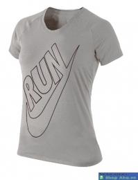 Áo thể thao nữ Nike Running xám ATT16