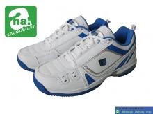 Giày tennis nữ Wilson trắng xanh TNN025