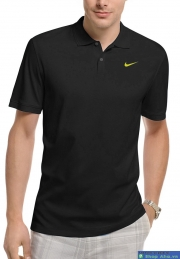 Áo Nike Tennis Dri Fit PoLo Đen DRF50