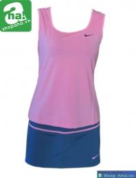Áo váy tennis nữ sát nách hồng AV022
