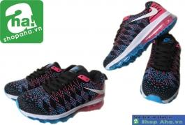 Giày thể thao nữ Air đen hồng GN093