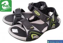Dép sandal nam đen chuối xám SDN409