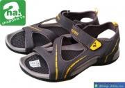 Dép sandal nam xám vàng SDN412