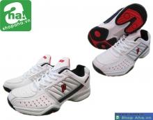 Giày tennis nam trắng đỏ GTN099