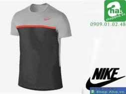 Áo Thể Thao Nam Nike Xám Viền Đỏ ANN147