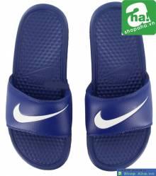 Dép Nike quai ngang xanh dương PQT8