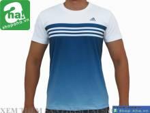 Áo Thể Thao Nam Adidas Trắng Xanh AAT15
