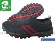Giày xỏ không dây Nam đen đỏ KD222