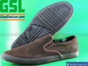 Giày Xỏ Không Dây Nam Size Lớn Mania Nâu GM11