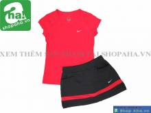Bộ Áo Váy Tennis Thời Trang Nữ Đỏ FGK2