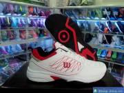 Giày Tennis Nam Wilson Trắng Đỏ DFD11