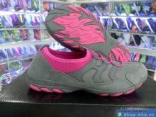 Giày Xỏ Không Dây Hama Nữ Xám Hồng DFD20