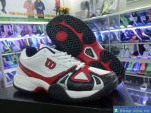 Giày tennis trắng đỏ ND016