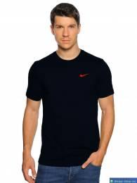 Áo thun Nike cổ tròn đen móc đỏ DAA005