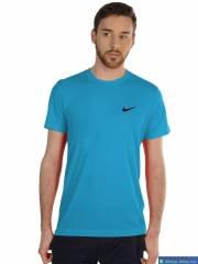Áo thun Nike cổ tròn xanh biển móc đen DAA006