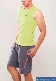 Áo Nike balo tiny swoosh xanh chuối DDU002