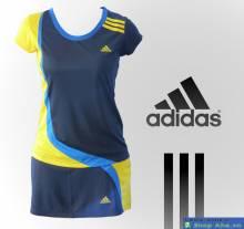 Váy tennis Adidas đen vàng FDG002