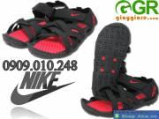 Giày sandal nam đỏ đen GSD001