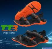 Giày sandal nam đen cam GSD003