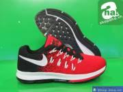 Giày Thể Thao Nữ Đỏ Đen NTT008