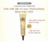 Gel trị mụn và làm mờ vết thâm clean face pot corrector The Face Shop Hàn Quốc Chính Hãng