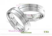 Nhẫn đôi bạc, nhẫn cặp tình nhân C3 -Thương nhớ