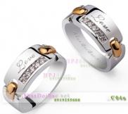 Nhẫn đôi bạc C4A mạ vàng 24k