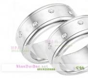 Nhẫn đôi, nhẫn bạc C6, Nắng tình