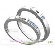 Nhẫn đôi, nhẫn bạc C7, Thắt chặt vòng tay ấm