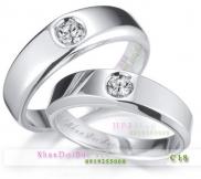 Nhẫn cặp, nhẫn bạc C18, One love