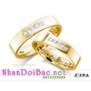 Nhẫn bạc C19A mạ vàng 24k, Có nhau trọn đời