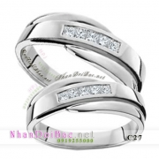 Nhẫn đôi, nhẫn bạc C27, Loving rings