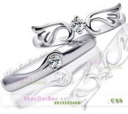 Nhẫn cặp, nhẫn bạc C9 Thiên Thần Tình Yêu