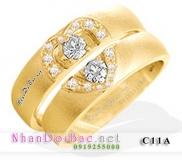 Nhẫn đôi bạc C11A mạ vàng 24k