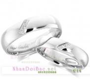 Nhẫn đôi, nhẫn cặp bạc C14 - Beautifull